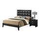 Global Furniture Carolina King Panel Bed in Black