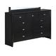 Global Furniture Carolina 9 Drawer Dresser in Black