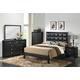 Global Furniture Carolina 5-Piece Panel Bedroom Set in Black