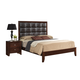 Global Furniture Carolina Queen Panel Bed in Merlot