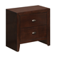 Global Furniture Carolina 2 Drawer Nightstand in Merlot