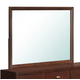 Global Furniture Carolina Mirror in Merlot