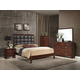 Global Furniture Carolina 5-Piece Panel Bedroom Set in Merlot