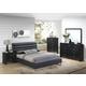 Global Furniture Carolina/8284 5-Piece Platform Bedroom Set in Black