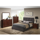 Global Furniture Carolina/8101 5-Piece Platform Bedroom Set in Brown/Merlot