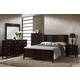 Global Furniture Lily 5-Piece Panel Bedroom Set in Antique Black
