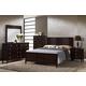 Global Furniture Lily 5-Piece Panel Bedroom Set in Antique Black