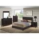 Global Furniture Lily/8103 5-Piece Platform Bedroom Set in Brown/Antique Black