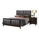Global Furniture Rosa Queen Panel Bed in Antique Black