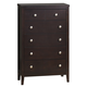 Global Furniture Rosa 6 Drawer Chest in Antique Black