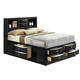 Global Furniture Linda Queen Storage Bed in Black