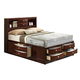Global Furniture Linda King Storage Bed in Merlot