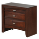 Global Furniture Linda 2 Drawer Nightstand in Merlot