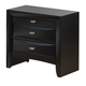 Global Furniture Linda 2 Drawer Nightstand in Black