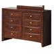 Global Furniture Linda 8 Drawer Dresser in Merlot