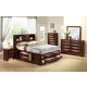 Global Furniture Linda 4-Piece Storage Bedroom Set in Merlot