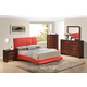 Global Furniture Linda/8272 4-Piece Platform Bedroom Set in Red/Merlot