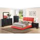 Global Furniture Linda/8272 4-Piece Platform Bedroom Set in Red/Black