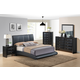 Global Furniture Linda/8272 4-Piece Platform Bedroom Set in Black