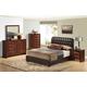 Global Furniture Linda/8119 4-Piece Platform Bedroom Set in Brown/Merlot