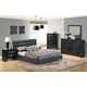 Global Furniture Linda/8284 4-Piece Platform Bedroom Set in Black