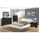 Global Furniture Linda/8269 4-Piece Platform Bedroom Set in White/Black