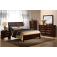 Global Furniture Celia Queen Panel Bed in Merlot