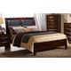 Global Furniture Celia King Panel Bed in Merlot