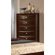 Global Furniture Celia 5 Drawer Chest in Merlot