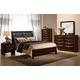 Global Furniture Celia 4-Piece Panel Bedroom Set in Merlot