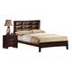 Global Furniture Livia Queen Panel Bed in Merlot