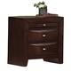 Global Furniture Livia 2 Drawer Nightstand in Merlot