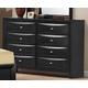 Global Furniture Livia 8 Drawer Dresser in Black