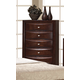 Global Furniture Livia 5 Drawer Chest in Merlot