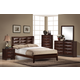 Global Furniture Livia 4-Piece Panel Bedroom Set in Merlot