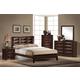 Global Furniture Livia 4-Piece Panel Bedroom Set in Merlot