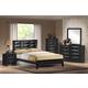 Global Furniture Livia 4-Piece Panel Bedroom Set in Black