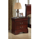 Global Furniture Philippe 2 Drawer Nightstand in Cherry