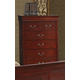 Global Furniture Philippe 5 Drawer Chest in Cherry