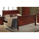 Global Furniture Philippe King Sleigh Bed in Cherry