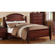 Global Furniture Laura Twin Poster Bed in Cherry