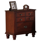 Global Furniture Laura 2 Drawer Nightstand in Cherry