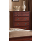 Global Furniture Laura 5 Drawer Chest in Cherry