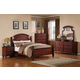 Global Furniture Laura 4-Piece Poster Bedroom Set in Cherry