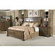 Kincaid Portolone Monteri Panel Bedroom Set in Rich Truffle
