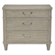 Bernhardt Marquesa 3-Drawer Nightstand in Gray Cashmere Finish 359-216