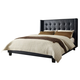 Diamond Sofa Furniture Madison Eastern King Platform Bed in Black