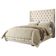 Diamond Sofa Furniture Park Avenue Eastern King Low Profile Bed in Desert Sand
