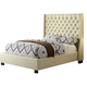 Diamond Sofa Furniture Park Avenue Queen Low Profile Bed in Wheat Savage