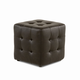 Diamond Sofa Furniture Zen Cube Ottoman in Mocca